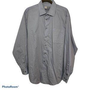 Joseph Abboud Gray Striped Button Up Shirt 17.5